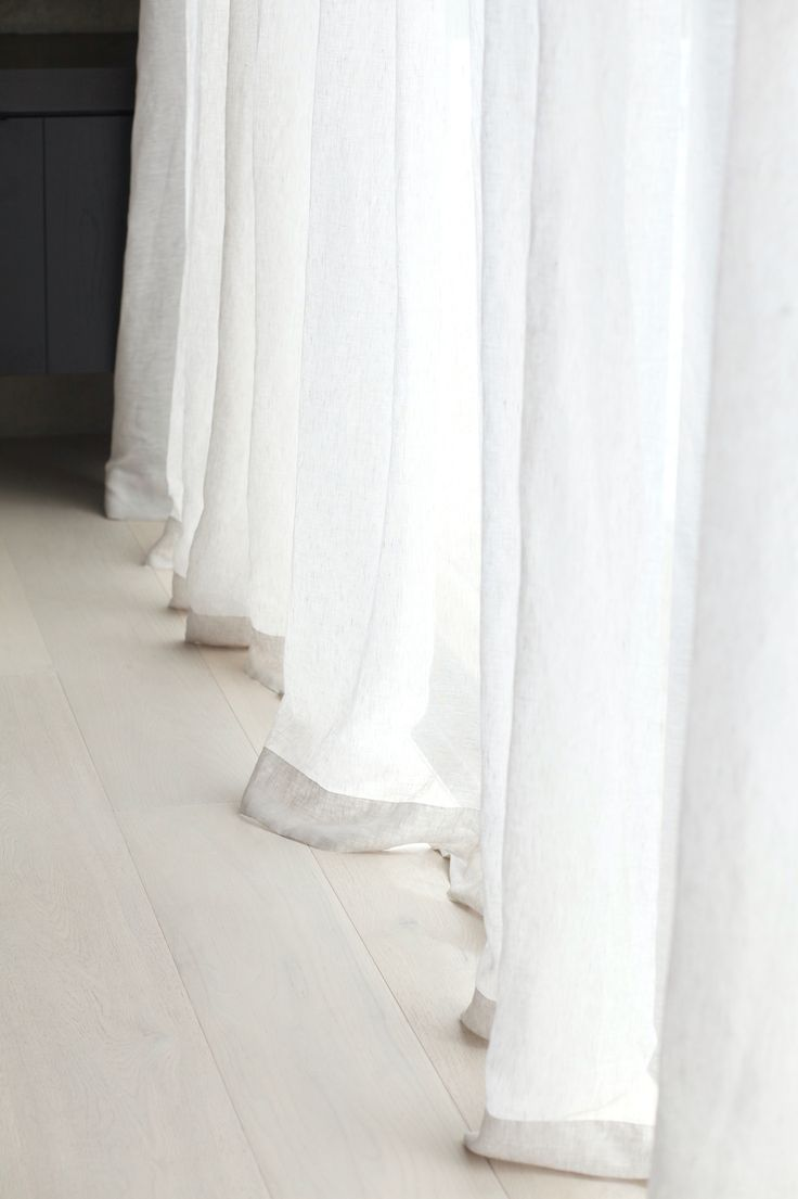 Sheer curtain texture - Soft Sheer Linen Curtains