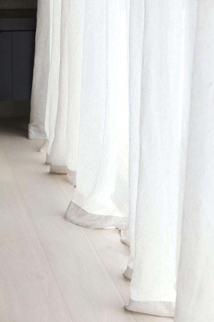 Soft, sheer linen curtains