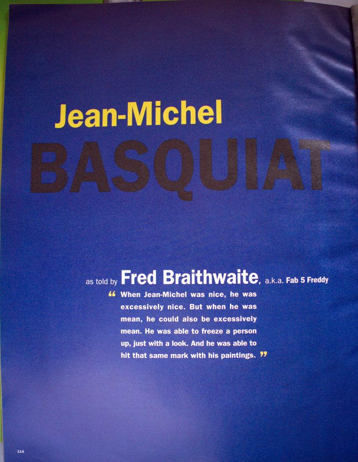 BASQUIAT - INTERVIEW magazine 1992