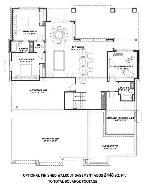 Ranch Style House Plan 3 Beds 2 5 Baths 2459 Sq Ft Plan 1069 7 Ranch Style House Plans Ranch House Plans Lake House Plans