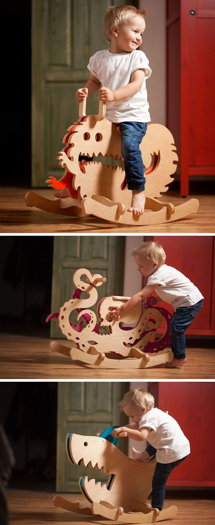 Horse shaped pillows for children - Designer Constantin Bolimond Has Replaced Traditional Rocking Horses With A Line Of Modern Kids Furniture That