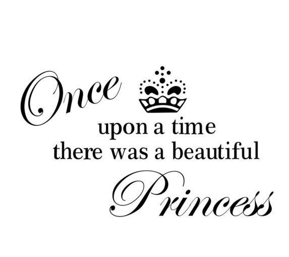 Wall Decal -PRINCESS black letters - TEENAGE GIRLS ROOM RemovableWall Decal