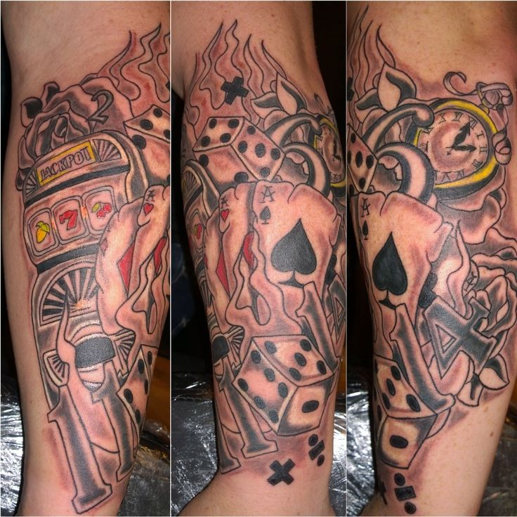 Tattoo Ideas Rock: Old School Half Sleeve Tattoo By Darren Burton At Rock N