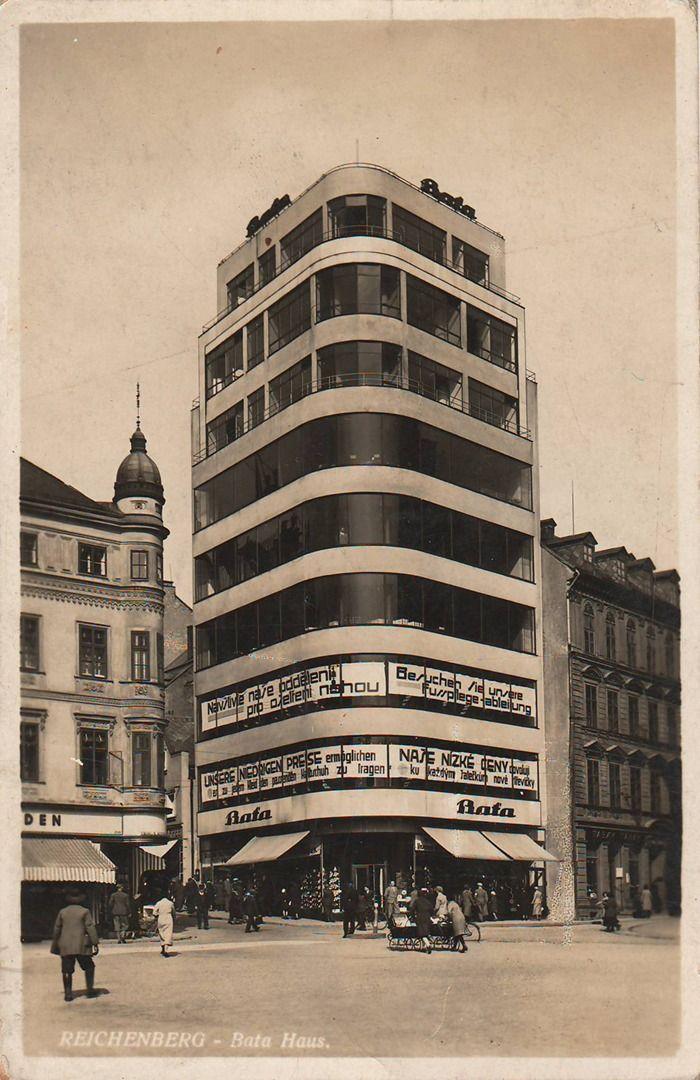 Obchodní dům firmy Baťa, Liberec (Baťa Department Store, Liberec) (Arch.: Vladimír Karfík)