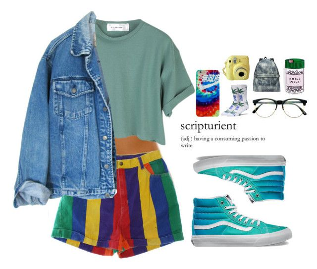 Proper 90's by platinum-puta on Polyvore featuring polyvore, fashion, style, StyleNanda, Vans, Jas M.B., Retrò, HUF and clothing
