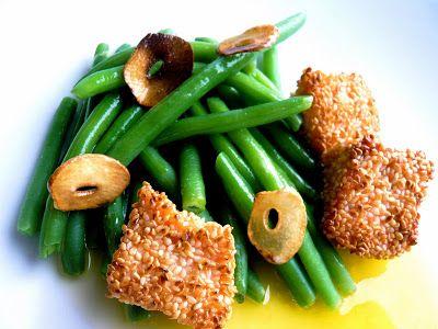 Om jag var din hemmafru: Gröna bönor med ingefärssmör och lax