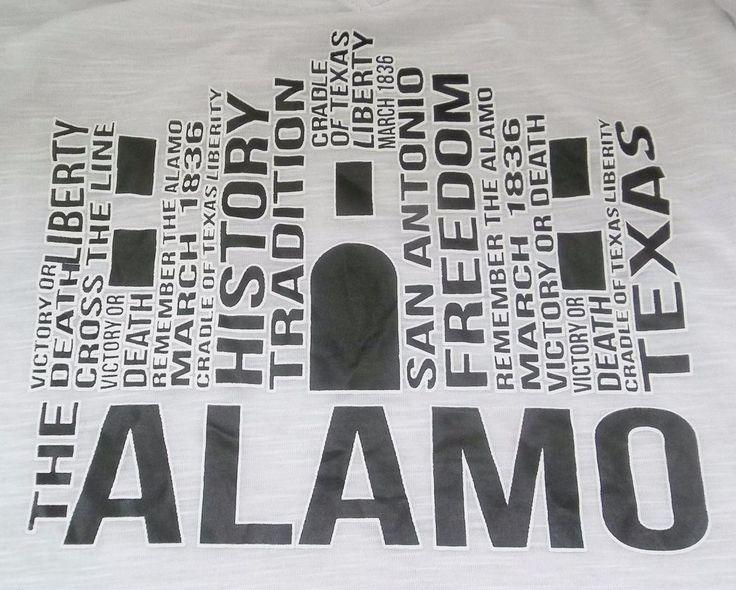 The Alamo San Antonio Texas Ladies Shirt Adult M Medium Pacific Surf Brand New
