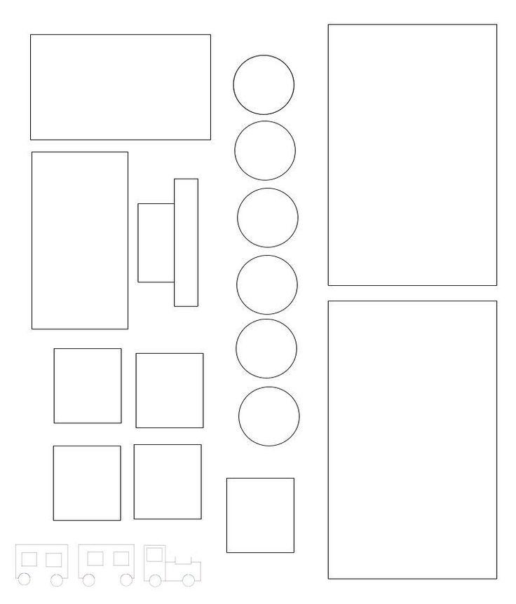 Train Black and White Printout