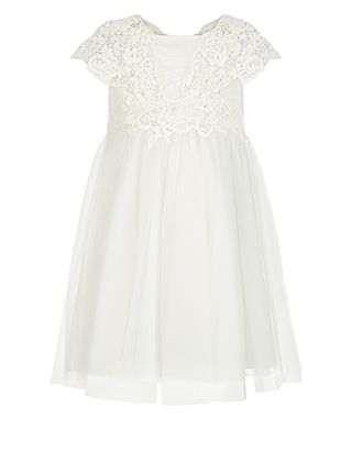 Baby Estella Flower Crochet Dress | Ivory | Monsoon
