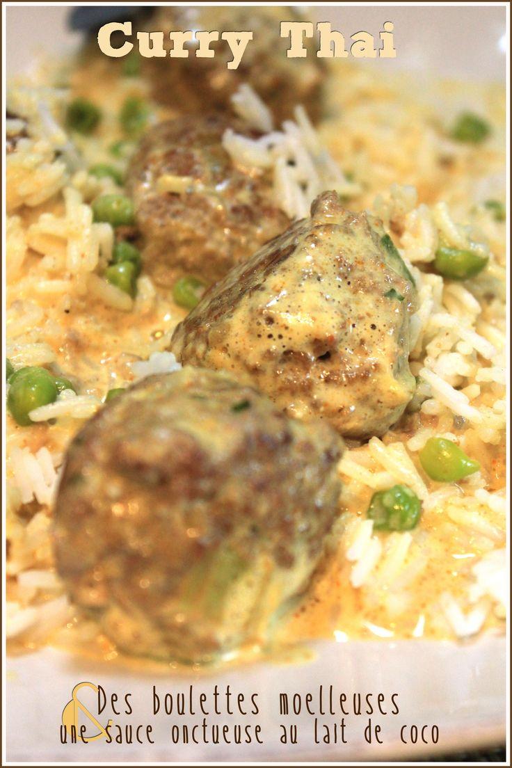 curry thai de boulette de viande