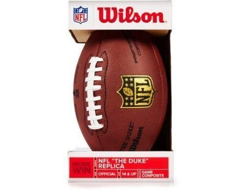 NFL Pro Replica Football Mimic The Duke Game Ball Official Size Weight Brown NEW