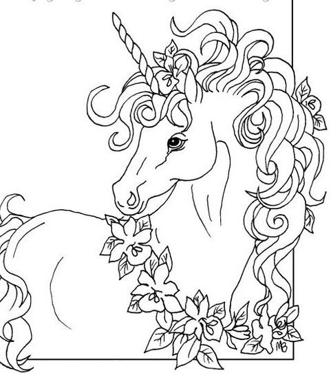 beautiful unicorn coloring pages - photo#20