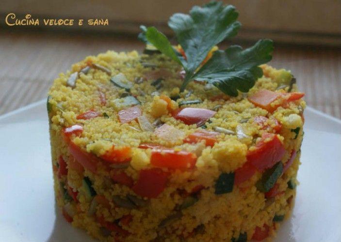 Couscous alle verdure e semi di girasole, ricetta vegetariana