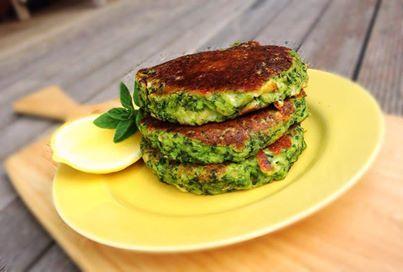 Kale, Ricotta and Pine Nut Pancakes