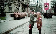 Generaloberst Eugen Ritter von Schobert (Left) und Julius Streicher