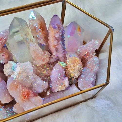 crystal, stone, and pink image
