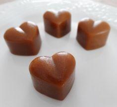 Petits coeurs de caramel au beurre salé
