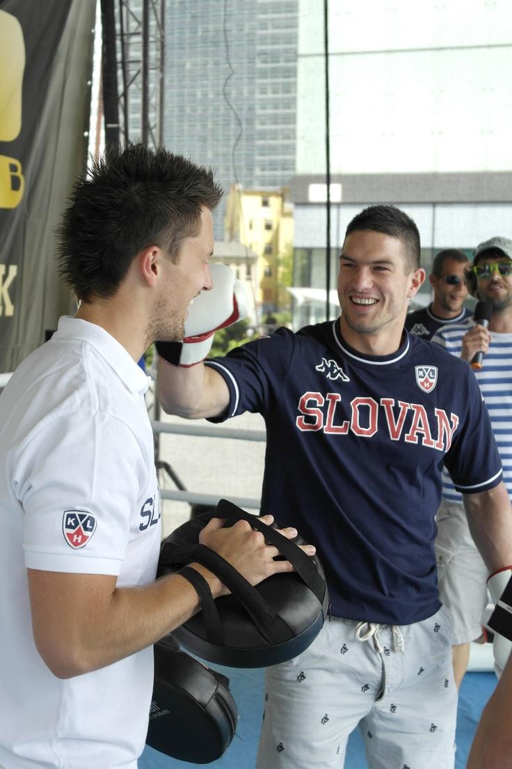 #JaroslavJanus and #MartinŠtajnoch boxing during Golem Fun Day 2013 in Eurovea