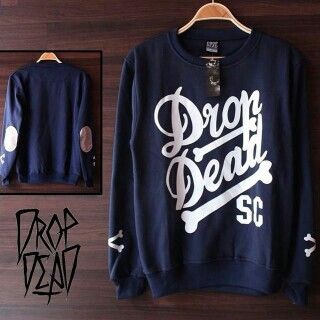 Drop dead navy elbow blus all size fit L 130rb call 523D5F13