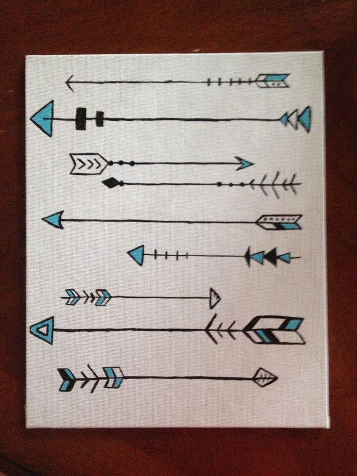 Arrows. Painted on canvas