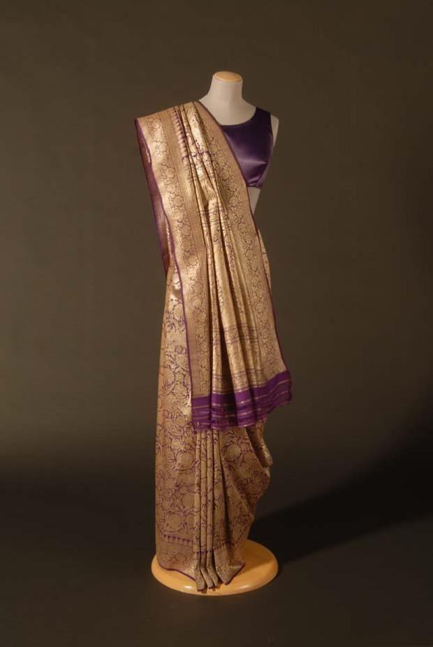 Wedding sari, c. 1890, Banaras (Varanasi), India.