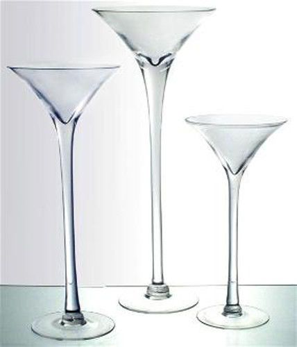 Martini Glass Vase 16 20 23 Wedding Centerpiece Tall