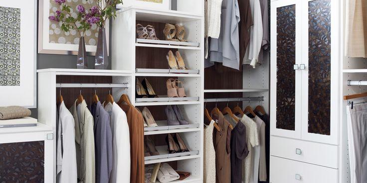 #Elegant custom walk-in #closet by California Closets.