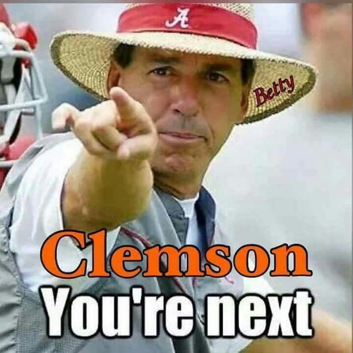 Clemson vs Alabama Football Coach Nick Saban