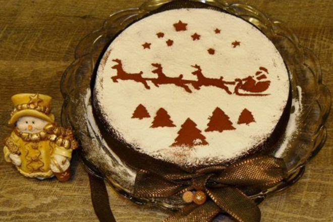 Καλή χρονιά με βασιλόπιτα με σοκολάτα και φουντούκια
