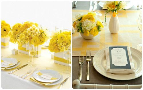 wedding shower decor | Perfect Bridal Shower Color Scheme: Yellow and White | Bridal Shower ...