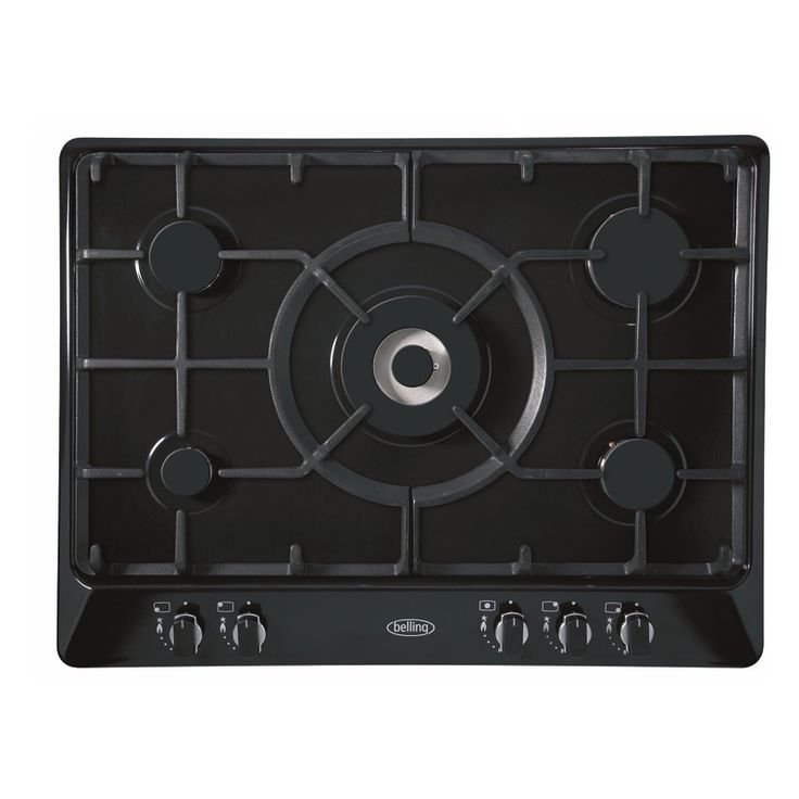 70cm gas hob with cast iron trivets & LPG kit - black #Belling #UKmade #madeinBritian #British #cooktop #gas
