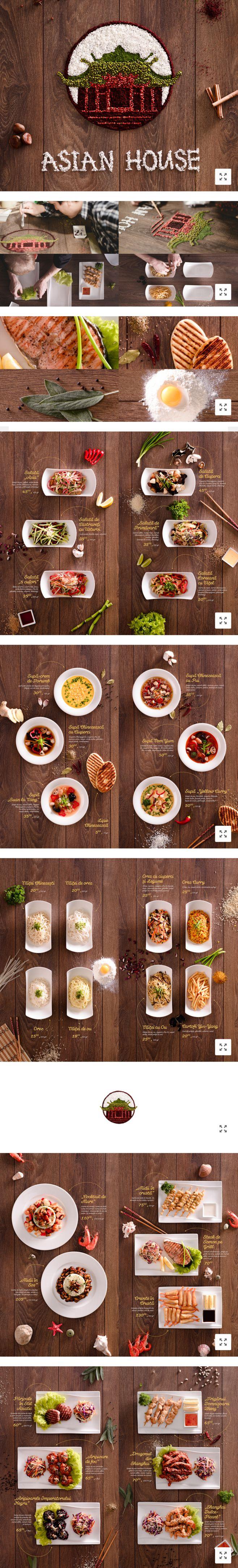 Asian House / 菜单及视觉设...