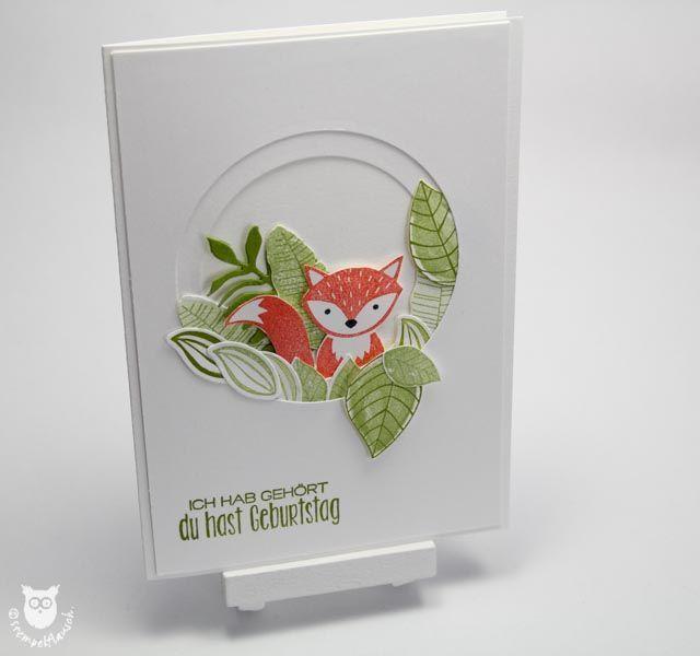 Frühlingskarte mit Fuchs zum Geburtstag Mehr