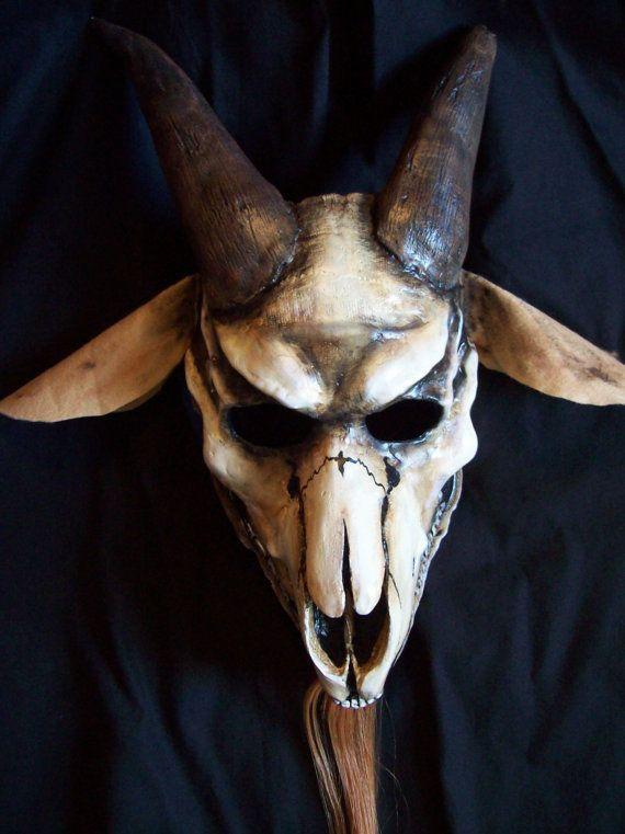 goat skull halloween mask by coffinhunter13 on etsy 7500 - Creepy Masks For Halloween