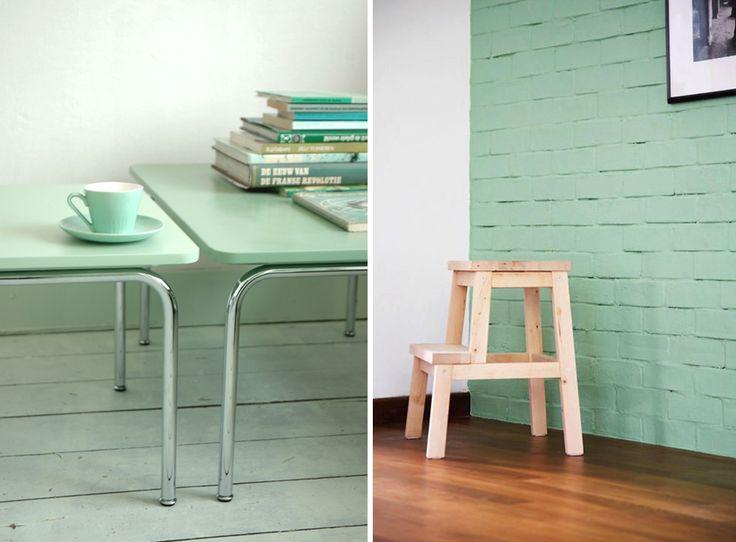 17 best couleur menthe mint color images on pinterest mint color mint paint and mint green. Black Bedroom Furniture Sets. Home Design Ideas