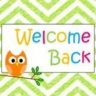 "Colorful printable wall sign ""Welcome Back"" - for teachers, librarians, administrators, and staff...."