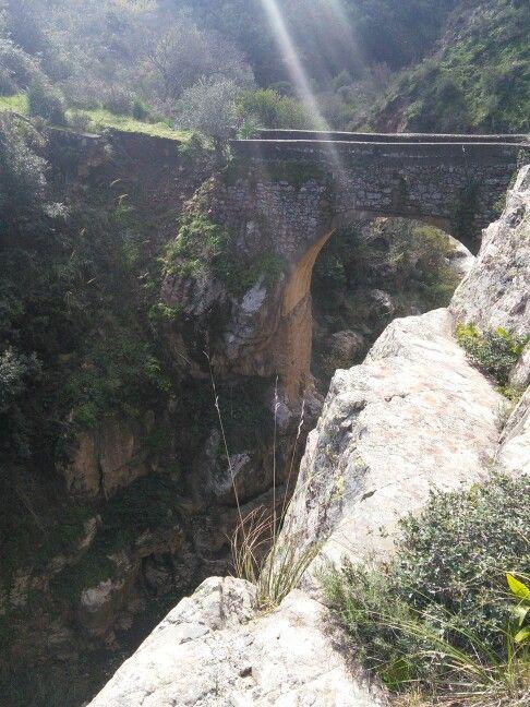 """Il ponte """"Zù Pardo"""" veniva attraversato dai pastori durante la transumanza  svolta tra il territorio di Mistretta e Caronia"""