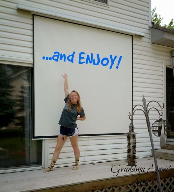 Best 25+ Backyard Movie Screen Ideas On Pinterest