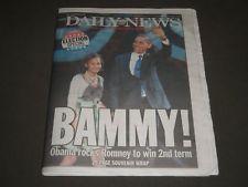 2012 NOVEMBER 7 NEW YORK DAILY NEWS NEWSPAPER - BAMMY - NP 2444