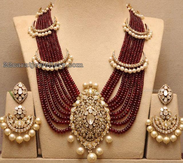 Nine Strings Ruby Beads Set