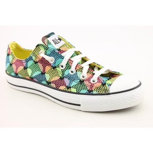 Converse Ct Print Ox Narrow Athletic Sneakers Shoes Black Womens