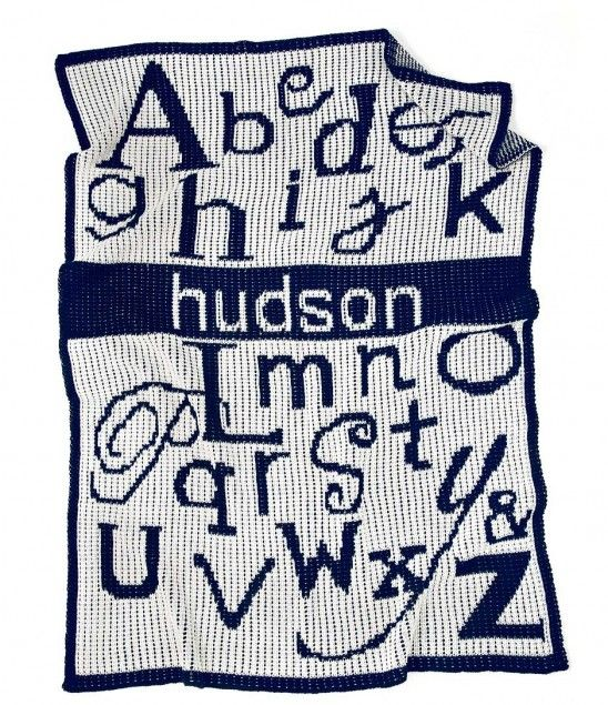From A to Z, let the world know which letters are your favorite.   Personalized Baby Stroller Blanket   UncommonGoods