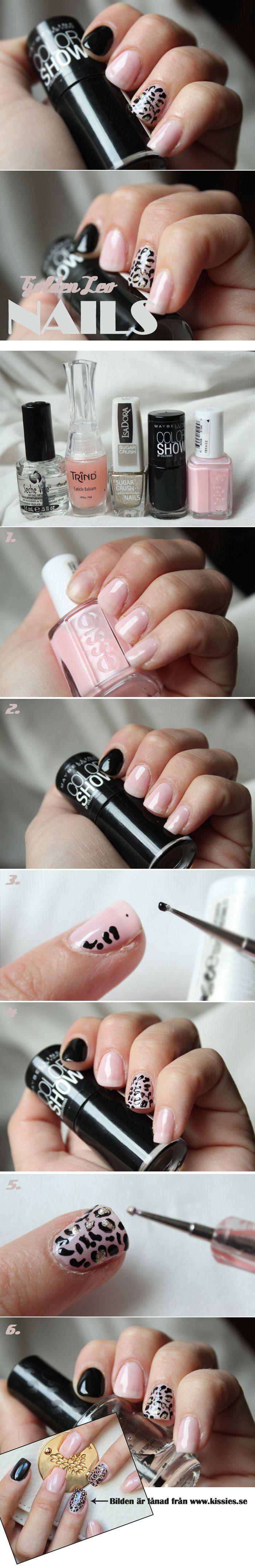 Så här gör du Kissies snygga Leopard naglar!