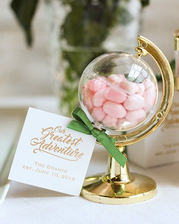 Wedding Gifts For Adventurous Couples : Wedding Lookbook Our Greatest Adventure Wedding These globe favors ...