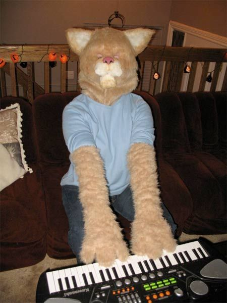 keyboard cat costume inspiration  like this but without the frightening frightening mask.