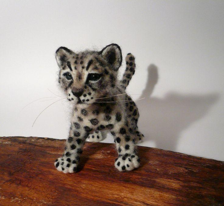 Leopard baby  Needlefelted animal https://www.facebook.com/pages/Elinas-Felting-Art/141019159288321 https://www.etsy.com/shop/ElinasArtShop?ref=hdr_shop_menu