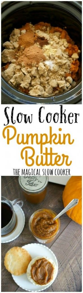 Slow Cooker Pumpkin Butter. You have to try this. To die for on homemade…
