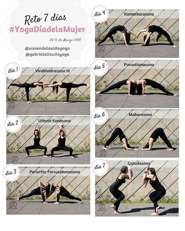 ¿Quieres participar en un reto de Yoga diferente? 😌 Un #YogaChallenge en pareja (con tu amiga, amigo, mamá, papá, pareja...) ¡aunque también puedes hacerlo de forma individual! @gabrielalitschiyoga y @viviendolavidayoga se unen para dar un poco más de vida al yoga y enfocarlo al día de la mujer y a los chakras 💗✨💗 🗓 Del 5 al 11 de marzo; no importa qué nivel tengas, la intención es compartir y crear comunidad 🙏🏽 Los premios serán: un libro con 30 posturas de yoga para colorear y…