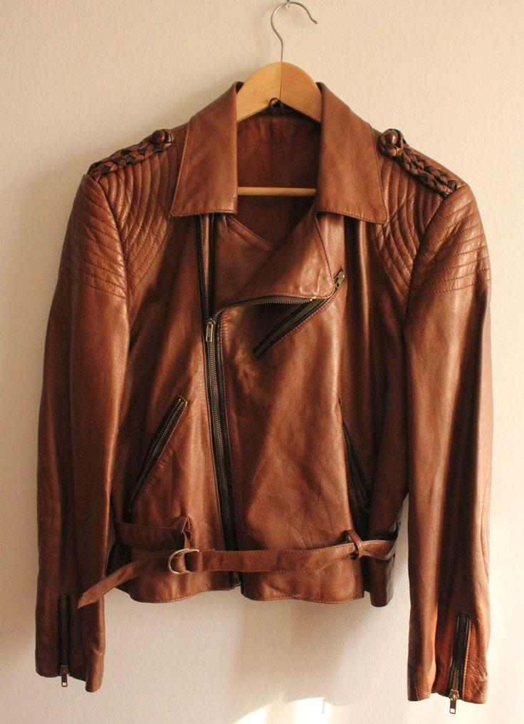 Sugar Kane retro leather biker jacket #leather #jacket #retro #biker