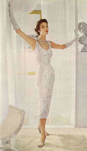 There is nothing quite as chic or cooling than an all white ensemble come the toastiest days of 1950s summer days.